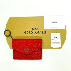 NWT Coach Pebble Leather Envelope Card Case